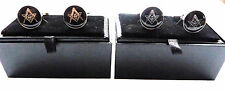 MASONIC CUFFINKS WITH SILVER OR GOLD SQUARE AND COMPASS WITH G GIFT BOXED