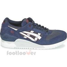 Shoes Asics Gel Respector HN6A1 5001 Man running Indian Ink White Sneakers