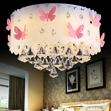 Modern Crystal Butterfly Pendant Light LED Lamp Ceiling Chandelier Lighting C185