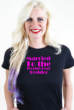 MARRIED TO THE WORLDS BEST BEDDER T SHIRT UNUSUAL VALENTINES GIFT