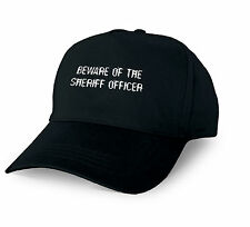 BEWARE OF THE SHERIFF OFFICER PERSONALISED BASEBALL CAP SHERIFF OFFICER XMAS GIF