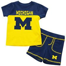 University of Michigan Wolverines Infant T-Shirt and Shorts Boy's 2-Pc Set