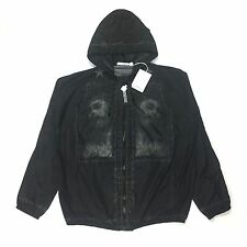 NWT $2.8k Givenchy Men's Black Jesus Print Lightweight Hooded Jacket AUTHENTIC