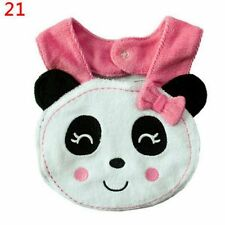 Kids Baby Lunch Bibs Cotton Waterproof Panda Pattern Saliva Towel Infant Bibs