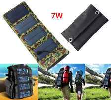 Portable 7W Folding Solar Panel Power Battery Charger For iPhone Samsung Camping