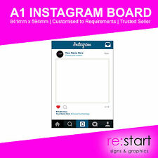 Personalised Instagram Frame / Board / Selfie Frame Wedding Party Prop / A1 Size