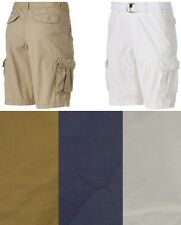 Urban Pipeline Mens Cargo Shorts Belted Cotton Solid sizes 29 30 34 NEW