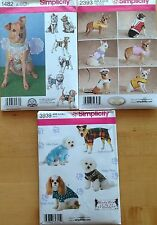 Simplicity 1482, 2393, 3939  Patterns For Dogs   Asst. Style/Size You Pick