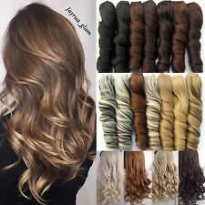 Clip In Real Thicker Hair Extensions Full Head Long As Human Hair Extensions P2n