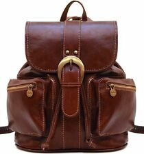 Floto Imports Luggage Positano Classic Travel Backpack, Italian Calfskin Leather