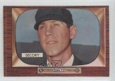 1955 Bowman #286 Frank Secory Umpire RC Rookie Baseball Card
