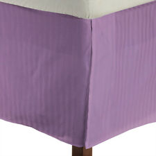 1 QTY Bed Skirt  Egyptian Cotton 1000 TC Drop 15 Inch Lavender Stripe