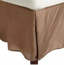 1 QTY Bed Skirt  Egyptian Cotton 1000 TC Drop 15 Inch Taupe Solid