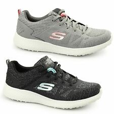 Skechers BURST Ladies Womens Sports Fitness Gym Memory Foam Lace Up Trainers