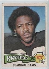 1975 Topps #278 Clarence Davis Oakland Raiders RC Rookie Football Card