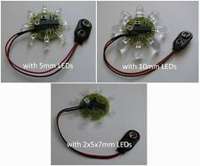 8 LED Chaser Beacon Sequencer PIC Microcontroller Lights Flash Show - 8 LEDs