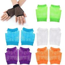 Fishnet Fingerless Gloves Wrist Length Costume Disco Dance Party Open Gloves