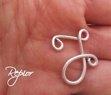 INICIAL CHARM wire Monogram Letter charm A-Z personalized Name Necklace