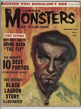 Famous Monsters of Filmland #5 November 1959 Early Warren Black Lagoon The Fly