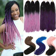 Ombre Crochet braids hair synthetic braiding hair extensions Full Head US STOCK