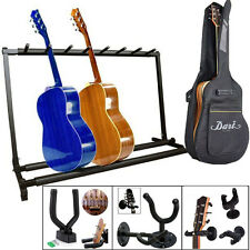 Multiple 7 Guitar Rack Stand Folding Single Guitar Hook Wall Hanger Bass Holder