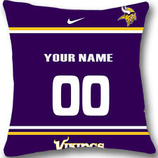 Custom zippered Minnesota Vikings Pillow Case With Your Name and Numbers L960
