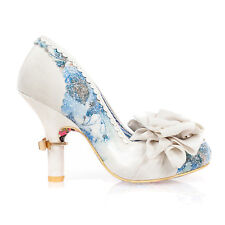 Irregular Choice Washington White Blue Floral Vintage High Heel Wedding Shoes