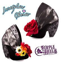 Irregular Choice We Found Love Black Leather Floral Bouquet Boots UK3.5 EU36