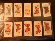 1932 John Player BUTTERFLIES butterfly transfers set 50 card Tobacco Cigarette