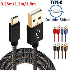 1/4/6FT Strong Denim Fast Data Sync Charger Cable Cord for iPhone 5 6 7 / Type C