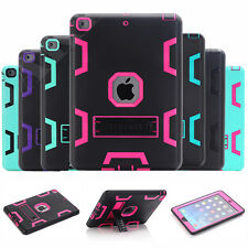 Shockproof Heavy Full Body Protective Rubber Stand Case Cover For Apple iPad