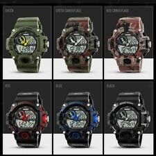 Men Analog Digital Date Sports Rubber Quartz Wrist Watch Alarm 50m Waterproof