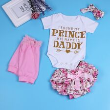 Newborn Baby Girl Bodysuit Tops+Floral Bloomers Shorts Pants Outfits Set Clothes