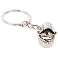 Exquisite Key Ring w/ Motorcycle Helmet Shaped Charm Keychain Decor Kid Gift