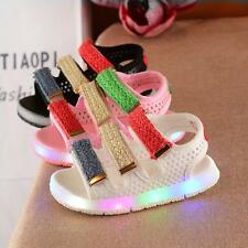 New Cute Baby Boys Girls LED Lights Sandals Skidproof  Toddler Kids Beach Shoes
