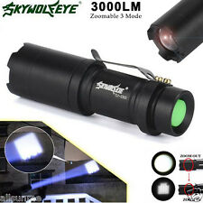 GENUINE Super Bright 3000LM CREE Q5 Zoomable 3 Modes LED Flashlight Torch Lamp