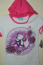 New  Girl's Kid's  SHIRT BOBBY JACK  Good To Be Me White L Hoodie 14 16