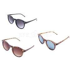 Retro Women Men Unisex Rivets Plastic Round Frame UV Sunglasses Goggles Shades