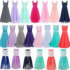 Flower Girl Kid Tutu Dress Chiffon Princess Party Wedding Bridesmaid Formal Gown