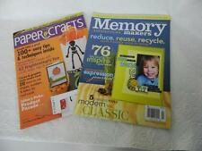 Lot 2 Memory Makers Paper Crafts Magazines Card Making Scrapbooking Ideas