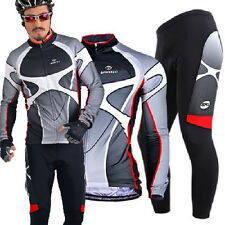 Mens Cycling Jerseys Kits Bicycle Wear Long Pants Outdoor Bike Clothing Tights