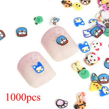 1000pcs 3D Nail Art Mix Design Fimo Slices Polymer Clay Stickers Decor Manicure