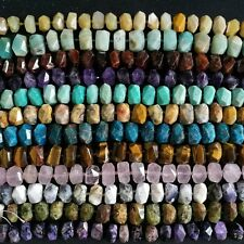 "Natural Faceted Gemstone Nugget Gemstone Loose Beads 15.5"" Strand"