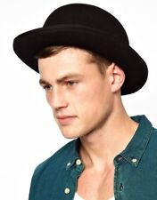 Deluxe Black Felt Irish Derby Bowler Hat