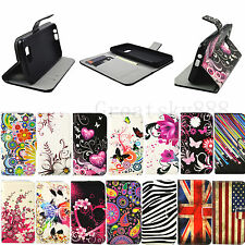 Stand Book Design Flip PU Leather Wallet Case Accessories For HTC Phone Models