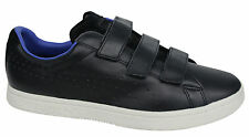 Puma Court Star French Mens Trainers Leather Black Hook & Loop 361892 02 U106