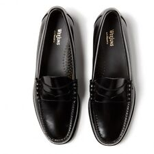 G.H. Bass Mens Shoes BA11010 Weejun Larson Moc Penny Loafer Leather -Black