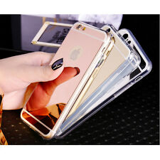 iPhone 7 MIRROR Shockproof Luxury Clear Hard Back Mirror Bumper Case Cover