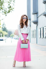 *SOLD OUT*BNWT H&M Trend Pleated Pink Midi Skirt EU36,EU38  Bloggers favorite