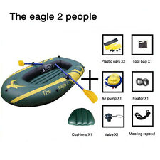 Portable Inflatable Boat High Strength 1.2mm PVC Tender Raft Dinghy 2/3 person